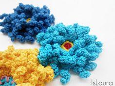 Squiggly Crochet Flower Pattern