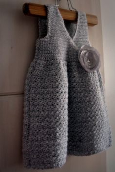 I don't have a little girl anymore (grow up too fast!!) But I have friends who will like this one. And they can crochet unlike myself! Crocheted Childs Jumper