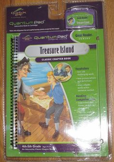 New~Leap Frog~Leap Pad or Quantum Leap~Treasure Island~Book and Cartridge