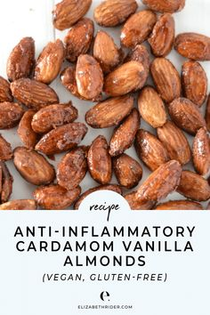 Check out my anti-inflammatory cardamom vanilla almonds recipe and turn plain almonds into a delicious guilt-free snack. Healthy Vegan Snacks, Healthy Recipes, Healthy Eating, Healthy Nutrition, Grain Free, Dairy Free, Snacks Sains, Anti Inflammatory Recipes, Going Vegan