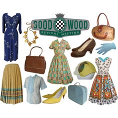 """""""Goodwood Revival 2013 - ladies vintage fashion to turn heads"""" by candy-says-vintage on Polyvore"""