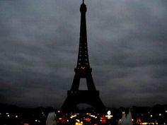 Massacre in Paris: Gone dark: The Eiffel Tower has gone dark following the attack on the City of Light. Pray for the People.