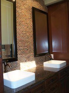 Kohler VOX Sinks, 1 X 2 Copper Tumbled Slate Backsplash