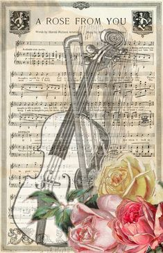 Music Notes Art, Sheet Music Art, Vintage Sheet Music, Vintage Sheets, Vintage Clip, Vintage Ephemera, Vintage Paper, Vintage Art, Shabby Chic Art