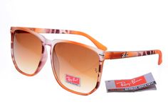 Ray-Ban Square 2143 Orange Pattern Frame Tawny Lens RB1112