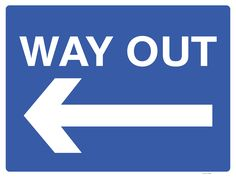 Have you visited a site and been unsure how to get out again? Confusion for visitors driving around a site can lead to possible dangerous situations. Display this Way Out Sign with a left arrow to help avoid accidents and incidents.
