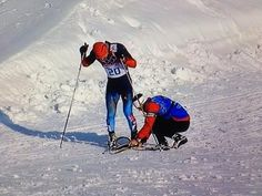 When a Canadian coach replaced a Russian athlete's broken ski so he could complete his Winter Olympic race with dignity. | 19 Completely Awesome Things Canadians Did In 2014