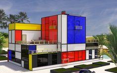 vasily klyukin envisions extravagant villas for mondrian inspired dream domain village