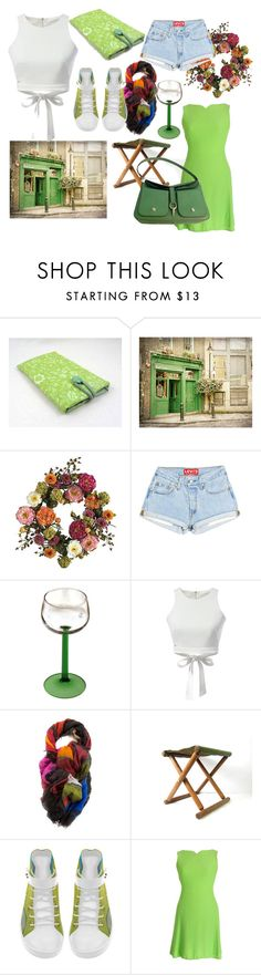 """""""selection no96"""" by lunashawls on Polyvore featuring Nearly Natural, WithChic, Versace and Kate Spade"""