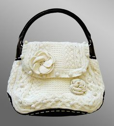 McQueen Breathtaking Knitted Bag..oh so my style here! Beautiful!