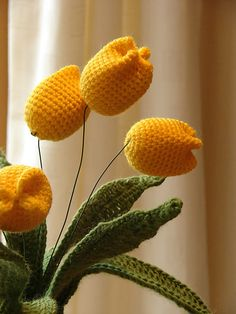 Ravelry: Spring Yellow Tulip Flowers pattern by HappyBerry