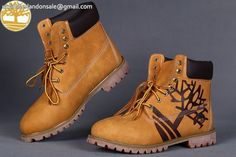 Custom Timberland Wheat-Black Basic Contrast Collar Boot Men 6 Inch $95.99