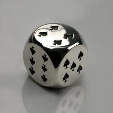 High Roller Dice in Sterling Silver - Mens and Womens Accessories - Designer Jewellery by Stephen Einhorn London
