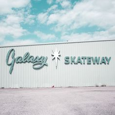 Galaxy Skateway.  Used to be one just like this in Melbourne, Florida.  I wonder if this is the same building.  (Photographed by Kimberly Rhodes Roberts)