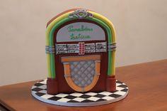 Beliciosos: Bolo jukbox - para tocar uma musica doce :)