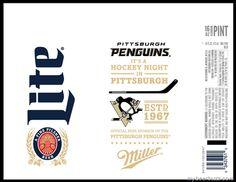 mybeerbuzz.com - Bringing Good Beers & Good People Together...: Miller Lite Pittsburgh Penguins Commemorative Cans...