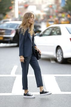 Love this styling! Try to combine your suit with a pair of Converse for a casual touch:  http://asos.do/HXzu7a xx