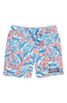 9ae2975404 Boy's Vineyard Vines Marlin & Starfish Chappy Swim Trunks, ...