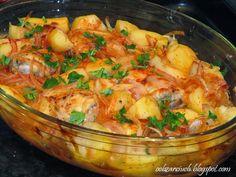 Kurczak w miodzie Aga, Fried Chicken, Fried Rice, Shrimp, Fries, Food And Drink, Blog, Blogging, Nasi Goreng