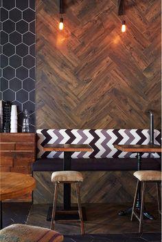 tile. Hout toepassen op de muur is trendy en eyecatching! Houten wandbekleding is verkrijgbaar bij BVO Vloeren, houten vloeren en parket www.sorsluxe.com