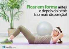 Familia.com.br | Exercícios abdominais pós-parto para ajudar a condicionar os músculos da barriga. #Gravidez