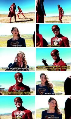 Barry Allen in #Supergirl #1x18 #SuperFlash crossover