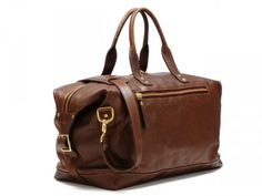Brixton Brown Leather Overnight Bag