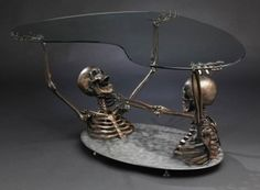 awesome///must have skull/motorcycle coffee table | moto castom
