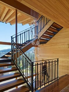 The Crow's Nest Residence - rustic - Staircase - Other Metro - BCV ARCHITECTS