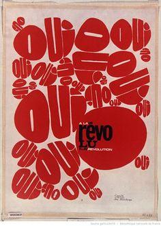 [Mai 1968]. Oui à la Révolution, Comité d'action des publicitaires : [affiche] / [non identifié]