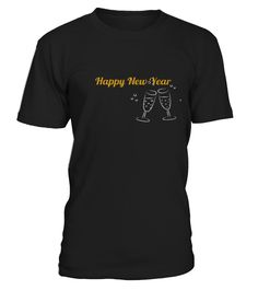 Best happy new year script front shirt  Funny New Year T-shirt, Best New Year T-shirt