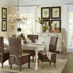Get inspired by Farmhouse Dining Room Design photo by Room Ideas. Wayfair lets you find the designer products in the photo and get ideas from thousands of other Farmhouse Dining Room Design photos. Les Philippines, Country Furniture, Furniture Ideas, Furniture Design, Dining Table In Kitchen, Round Dining, Dining Tables, Extendable Dining Table, Dining Room Design