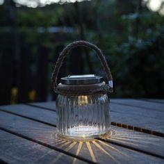 Lampe solaire LED à poser Jar en verre | Luminaire.fr