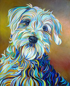 Georgia The Airdale - Kate Hoyer Dog Portraits, Portrait Art, Schnauzer Art, Dog Pop Art, Dog Artist, Mandala Painting, Zen Art, Pretty Art, Animal Paintings