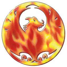 Phoenix clan circular logo design