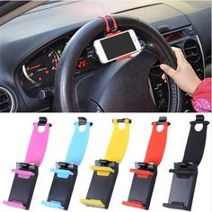 Car Phone Holder Car Steering Wheel Holder Bicycle Clip Mounting Mobile Phone Holder For iPhone / Samsung Galaxy / Xiaomi