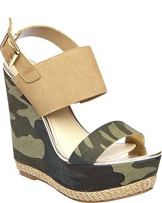 dd41a2d24833d9 RAMBLING CAMO womens dress high wedge Camo Shoes