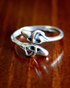 Ballet Dancer's Ring Sterling Silver Ballet by kandsimpressions, pointe shoes or ballet slippers