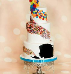 Whimsical Colorful Birthday Cake Picture