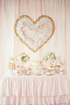 pink and gold dessert table by Avie & Lulu