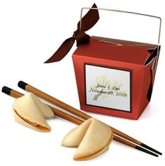 "Box Size: 3""L x 2.5""W x 2.5""H Chopstick Size: 9""L Chinese take out on a Friday…"
