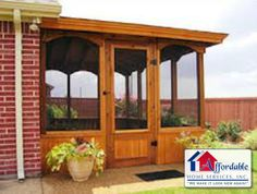 A screen porch we custom built - Check out our website for more samples of our work  ahsremodeling.com