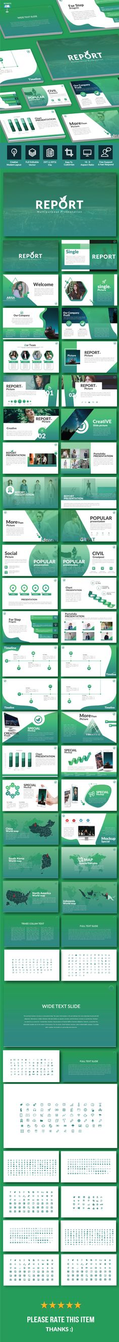 Report - Keynote Multipurpose Template - Keynote Templates Presentation Templates