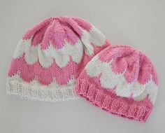 Knit Scallop Baby Hat Pattern by SweetPKnits on Etsy