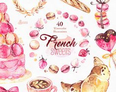 French Paris. Watercolor Clipart shoes fashion by OctopusArtis