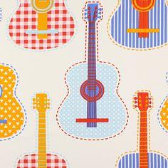 Chitarra - mix di colori - Altri tessuti per bambini - Altri tessuti arredo - Tessuti arredo per bambini - tessuti.com