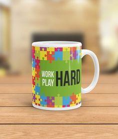 A perfect way for you to warm up the mornings with your favourite beverage in an awesome Inspiring Mug. Buy it now and inspire yourself & loved ones with awesome designer mug by QuoteSutra. Our premium mugs are made with High Quality Ceramic and have Excellent Printing. All of our products are crafted with Love.  Work Hard Play Hard Inspiring Quote Mug by Quotesutra Affirmation, Ceramic Mug, Coffee Mugs, Corporate Gift, Decor, gift, Gift idea, Gifting, Home decor, Mug, office Decor, Office…