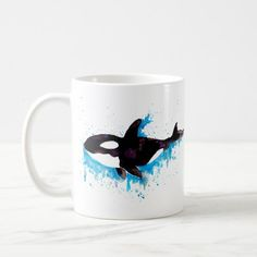 Watercolor Killer Whale Coffee Mug   christmas fishing gifts, fishing birthday invitation, fishing ideas diy #wildtrout #birthdaypresent #retirementgift, 4th of july party How To Make Fish, Rare Animals, Strange Animals, Fishing Gifts, Fly Fishing, Personalized Note Cards, 4th Of July Party, Killer Whales, Retirement Gifts