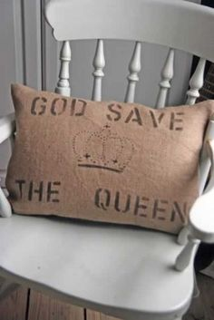 Barbara Coupe - God Save The Queen Cushion