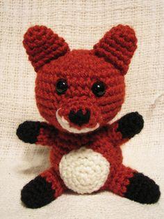 Precious Red Fox Crochet Stuffed Animal. $15.00, via Etsy.